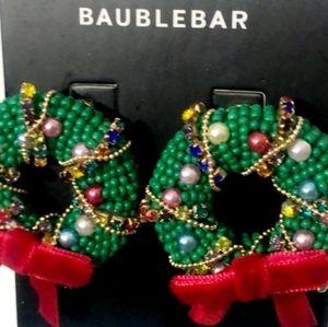 Baublebar Holiday Wreath Earrings NWT